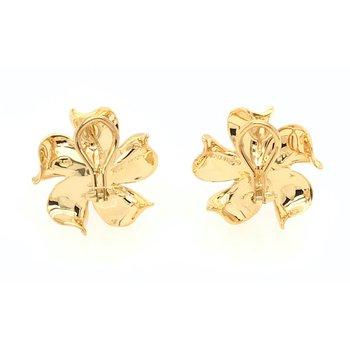 Diamond Flower Design Earrings