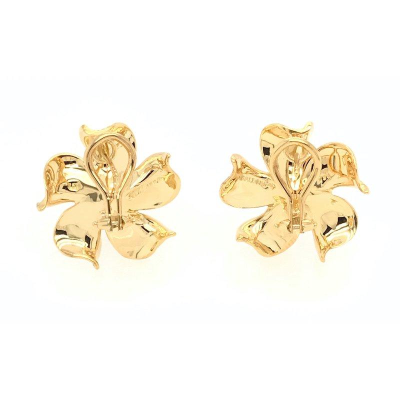 Giovanni Design Diamond Flower Design Earrings