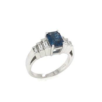 Vintage Le Vian Sapphire & Diamond Ring