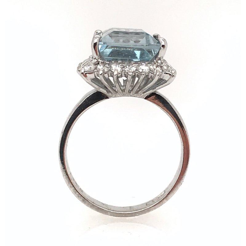 Adam K. Aquamarine & Diamond Ring