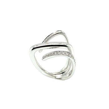 Italian 18k Diamond Ring