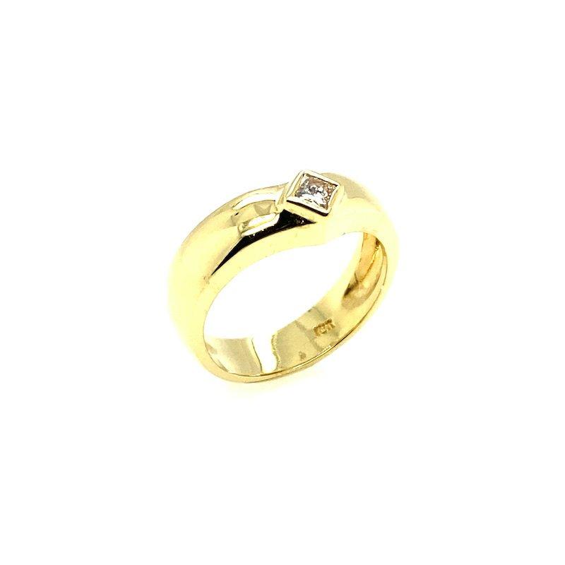 Adam K. 14k Diamond Pinky Ring