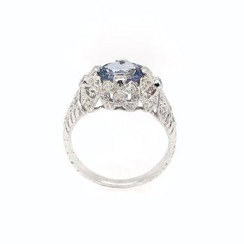 Light Blue Sapphire & Diamond Ring