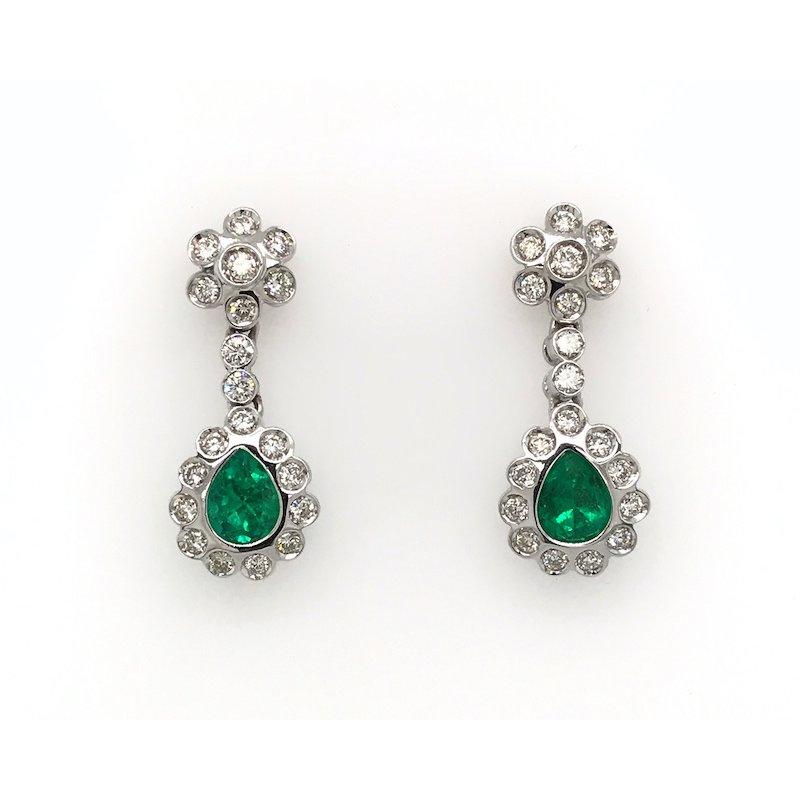 Adam K. Emerald & Diamond Earrings