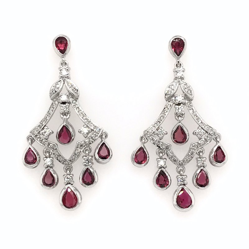 Asba Diamond & Ruby Earrings