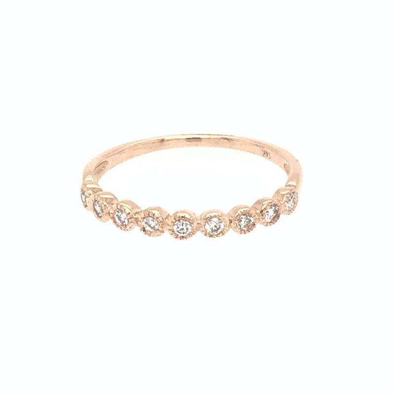 Asba 14k Rose Gold Diamond Band