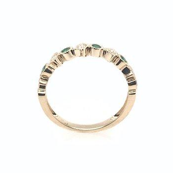 Diamond & Emerald Wedding Band