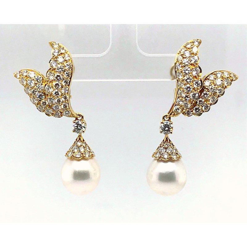 Adam K. Diamond and Pearl Earrings