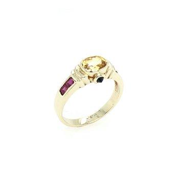 Yellow Sapphire & Ruby Ring