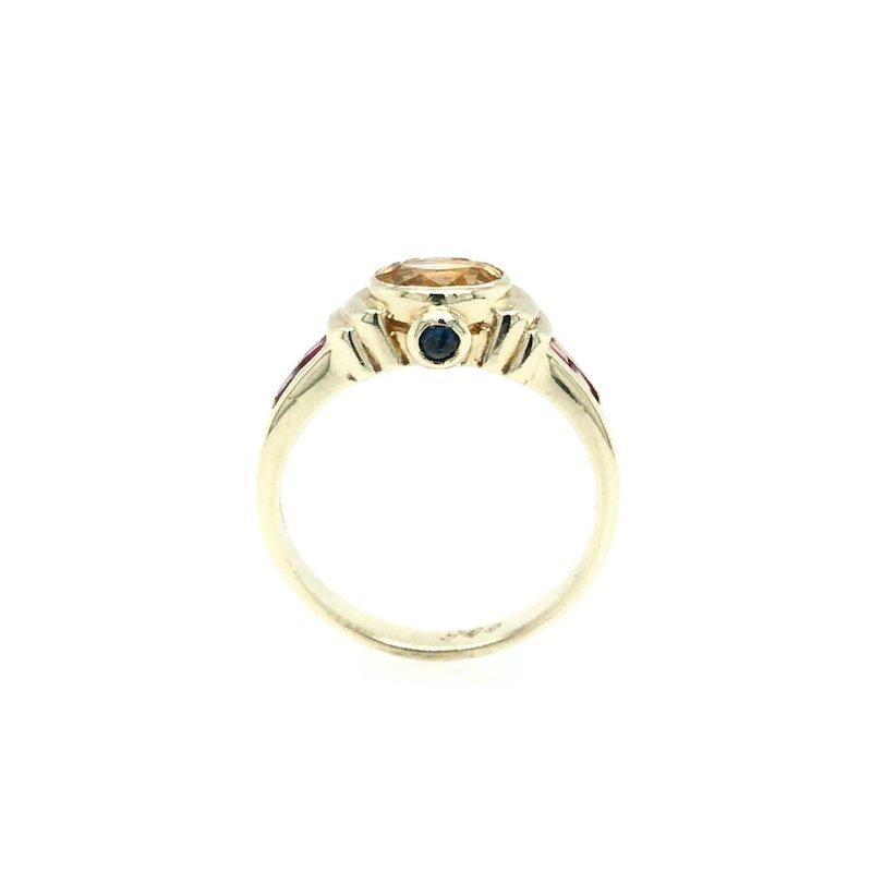 Adam K. Yellow Sapphire & Ruby Ring