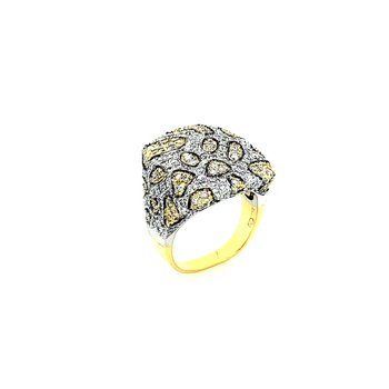 18k Unique Leopard Style Diamond Ring