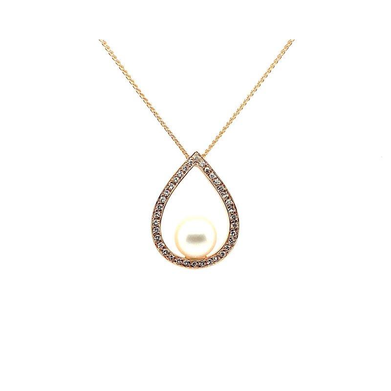 Adam K. 18k Pearl & Diamond Pendant Necklace