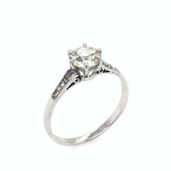 Antique 18k Diamond Engagement Ring