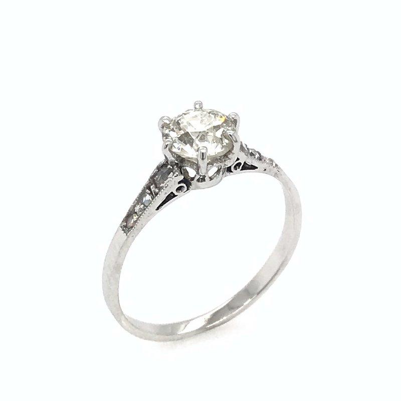 Adam K. Antique 18k Diamond Engagement Ring