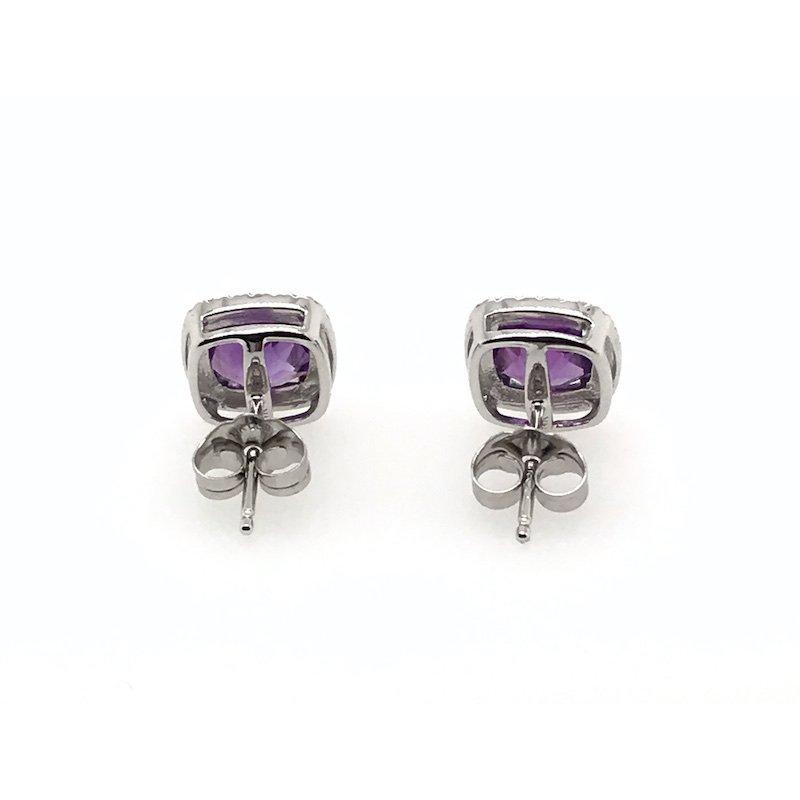 Quality Color Design 14k Amethyst & Diamond Earrings