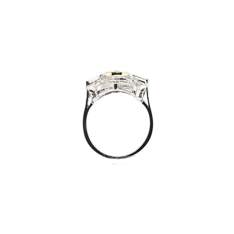 Adam K. 18k Vintage Emerald & Diamond Ring