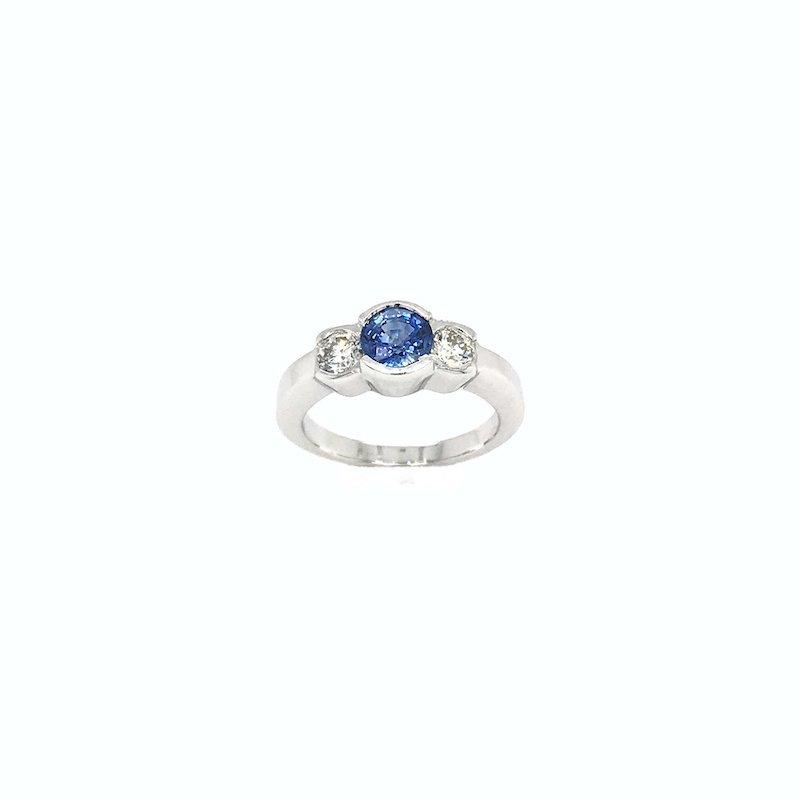 Adam K. Sapphire & Diamond Ring