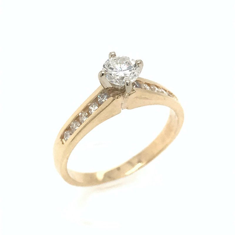 Adam K. 18k Diamond Channel-Set Engagment Ring