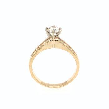 18k Diamond Channel-Set Engagment Ring