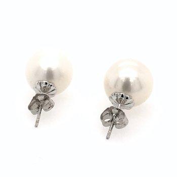 11.5mm Round Pearl Earrings