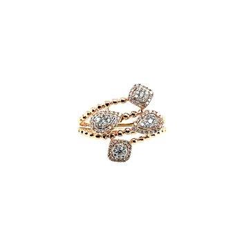 14k Oval Diamond Ring