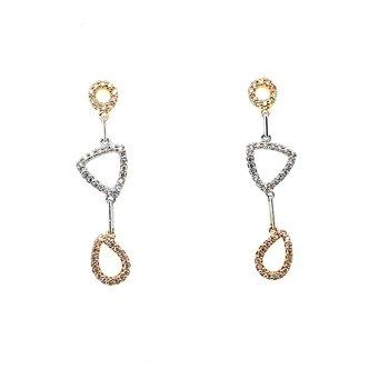 18k Two-Tone Diamond Earrings