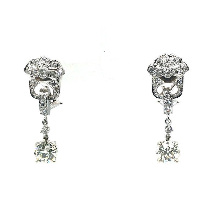 Adam K. Art Deco Diamond Earrings