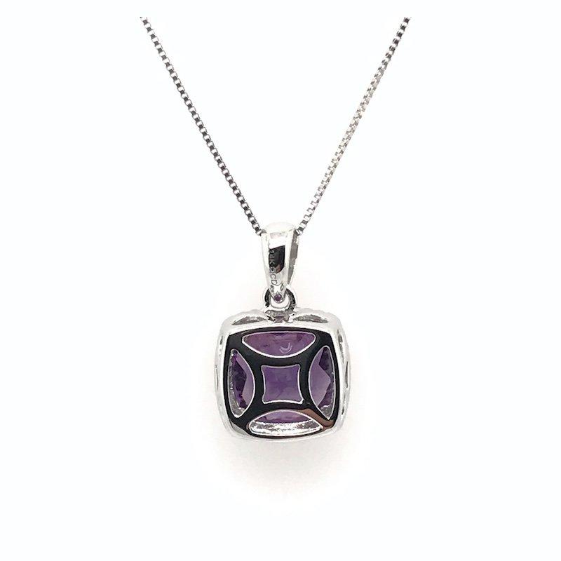 Quality Color Design 14k Amethyst & Diamond Pendant Necklace