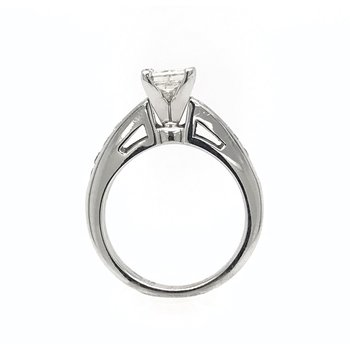 14k Princess Cut Diamond Engagement Ring