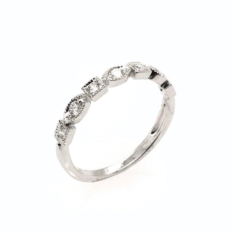 Asba 14k Diamond Wedding Band