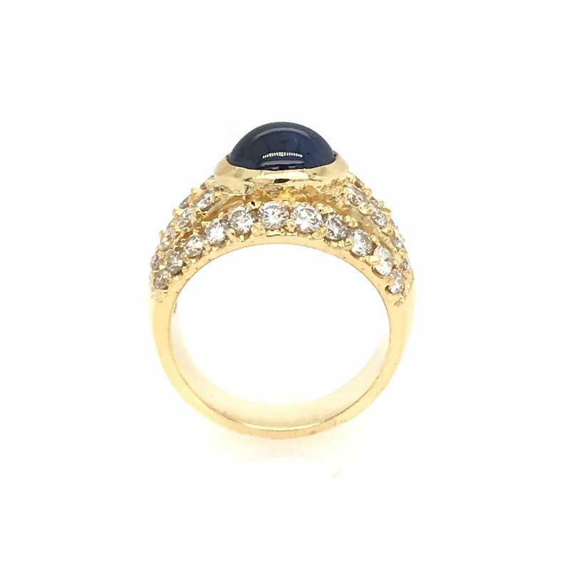 Adam K. 18k Sapphire & Diamond Ring