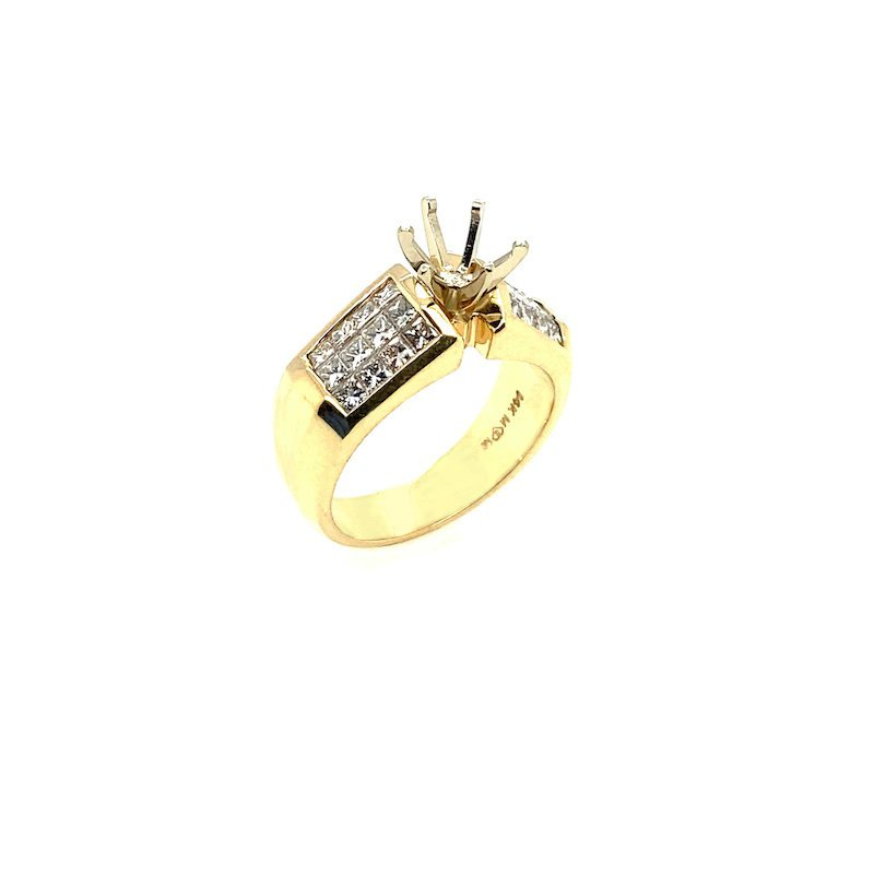 18k Semi Mount Engagement Ring