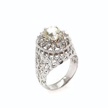 18k Yellow Diamond Dome Ring
