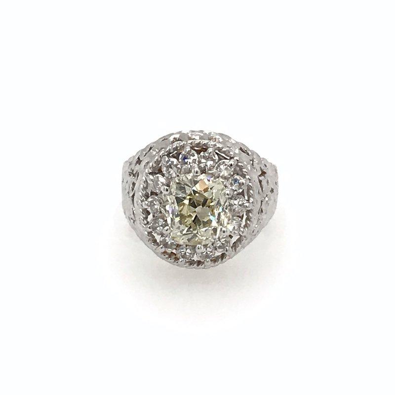 Adam K. 18k Yellow Diamond Dome Ring