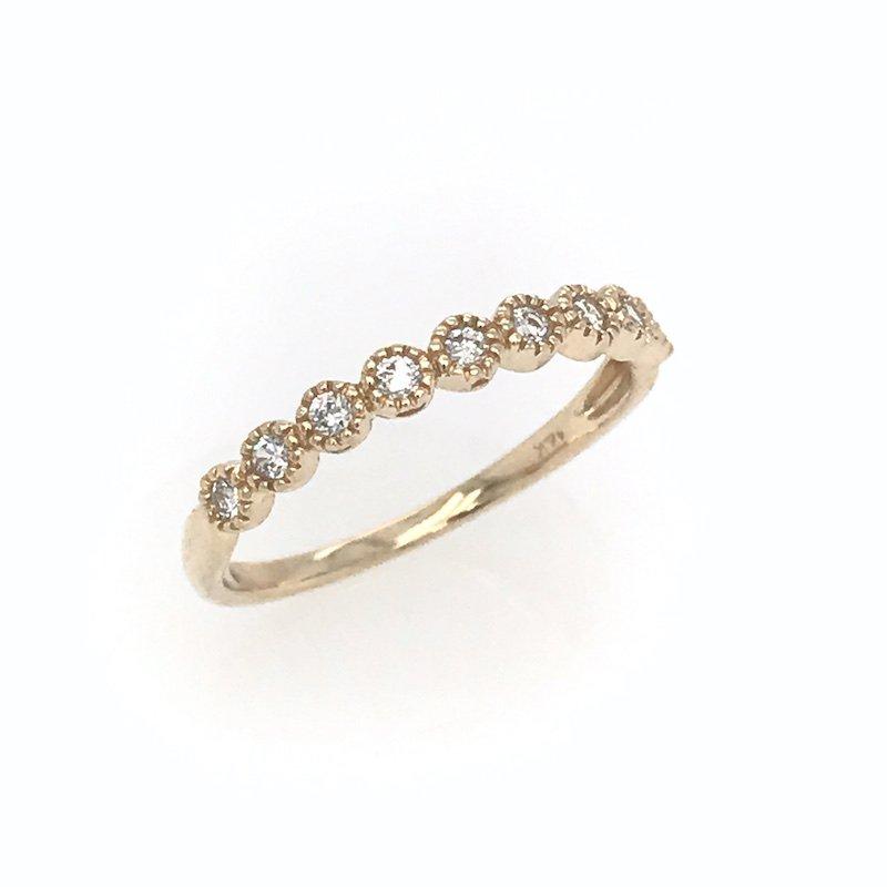 Asba 14k Yellow Gold Diamond Band