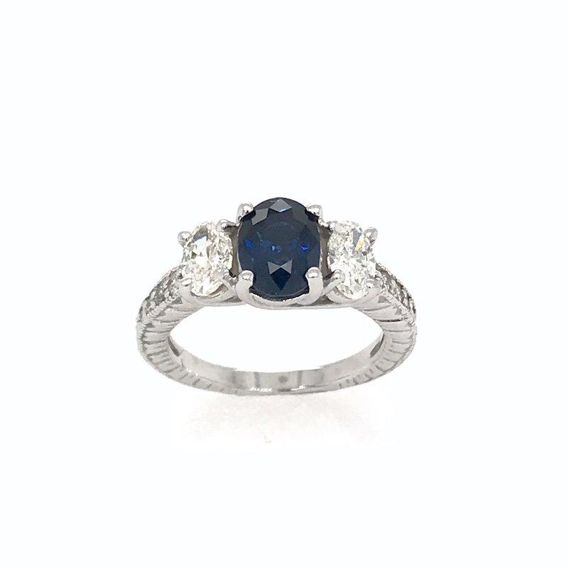 Adam K. Sapphire & Diamond Engagement Ring