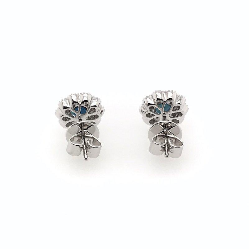 Quality Color Design 18k Sapphire & Diamond Earrings