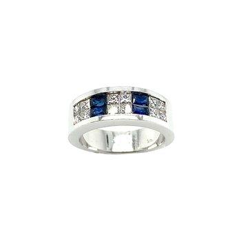 18k Sapphire & Diamond Ring