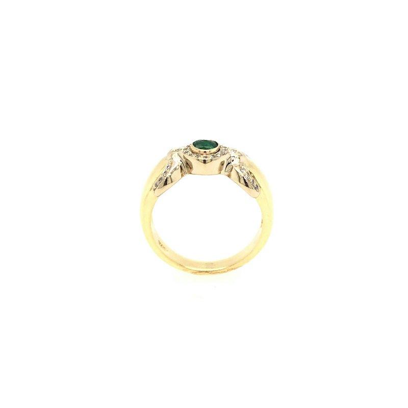 Adam K. 18k Emerald & Diamond Ring