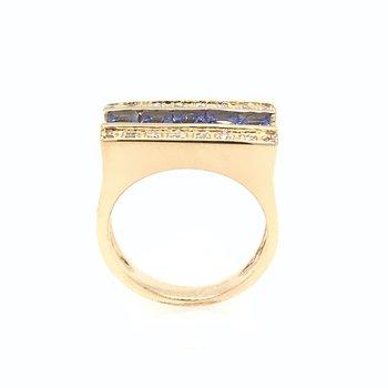 14k Tanzanite & Diamond Ring