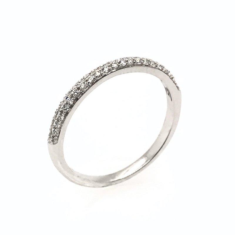 Asba 14k White Gold Diamond Wedding Band