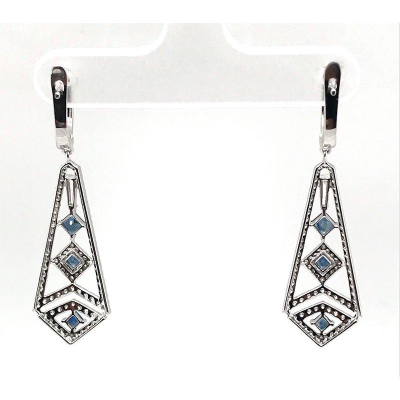 Asba Diamond and Sapphire Earrings