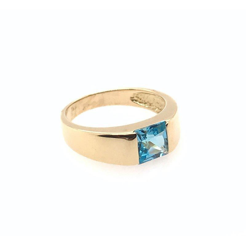 Adam K. 18k Blue Topaz Ring
