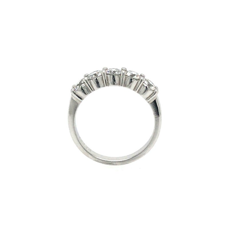 Adam K. Platinum Diamond Wedding Band