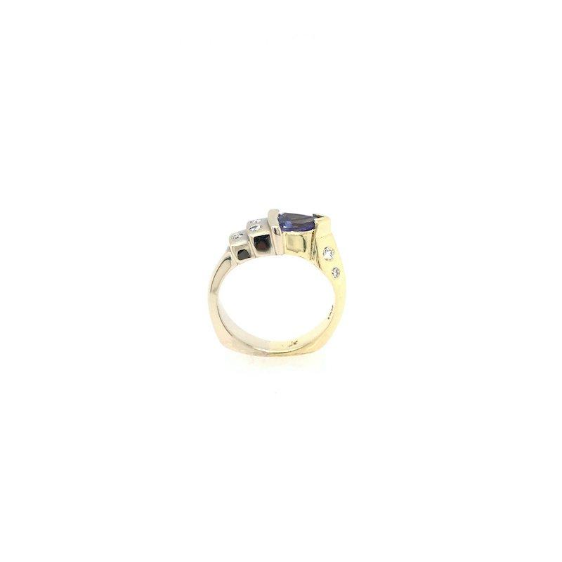 Adam K. Tanzanite& Diamond Ring