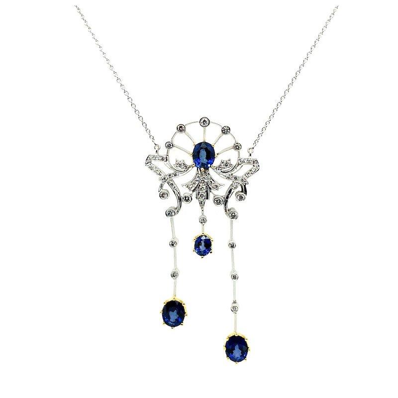 Adam K. 18k Sapphire & Diamond Necklace