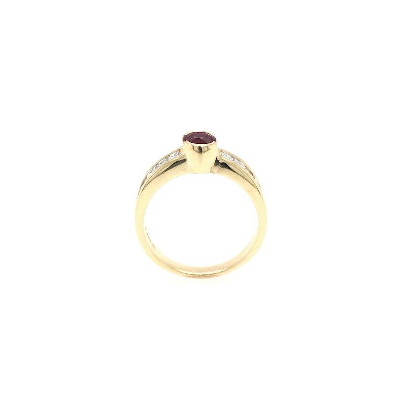 Adam K. 18k Ruby & Diamond Ring