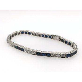 Art Deco Diamond & Synthetic Sapphire Bracelet