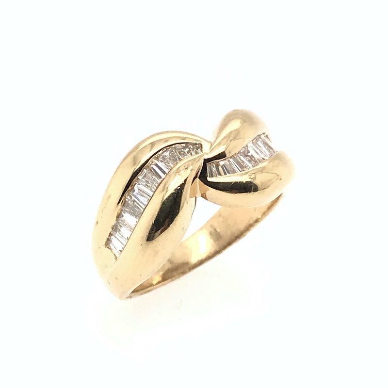 Adam K. 14k Baguette Diamond Ring