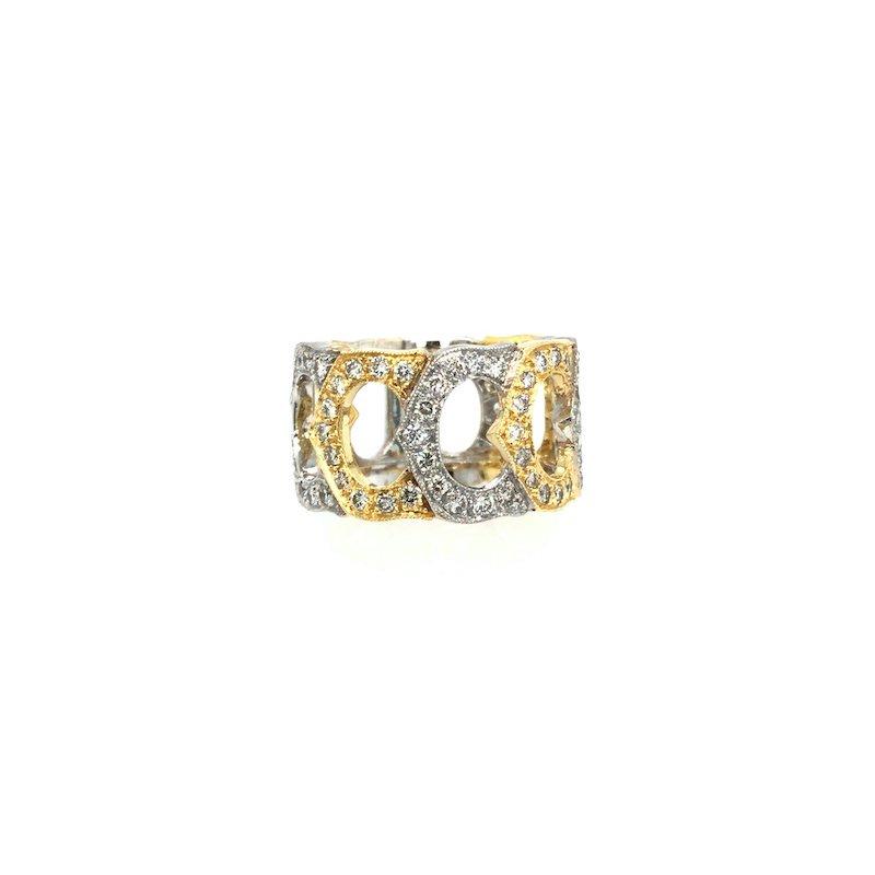 Adam K. 18k Cartier Design Diamond Ring